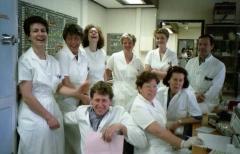 1991.14a vlnr Reinie, annemarie, joze, Dinanda, Arianne, Ben, zittend Peter, carla en Jet